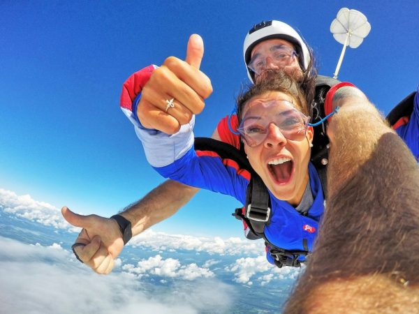 Thumb Up for the skydive!
